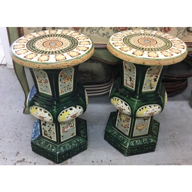 Vintage Chinese Garden Stools - A Pair - Image 2 of 3