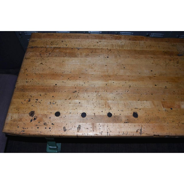 Industrial Maple Top Work Table - Image 8 of 10