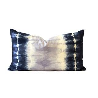 Blue Tie-Dye Pillow