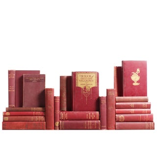 Gilt & Burgundy World History Books - Set of 21