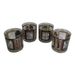 'Roaring Twenties' Hollywood Old Fashioned Glasses - Set of 4