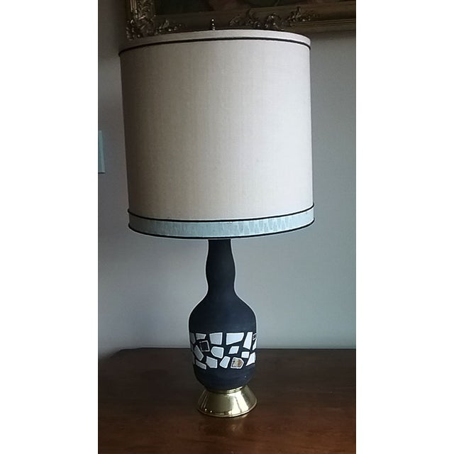 Midcentury Modern Marboro Lamp with Original Shade - Image 2 of 4