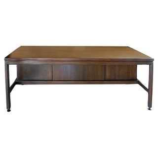 1960's Jens Risom Walnut Desk
