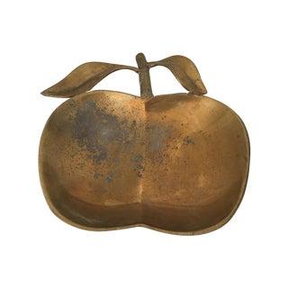 Vintage Brass Apple Trinket Dish