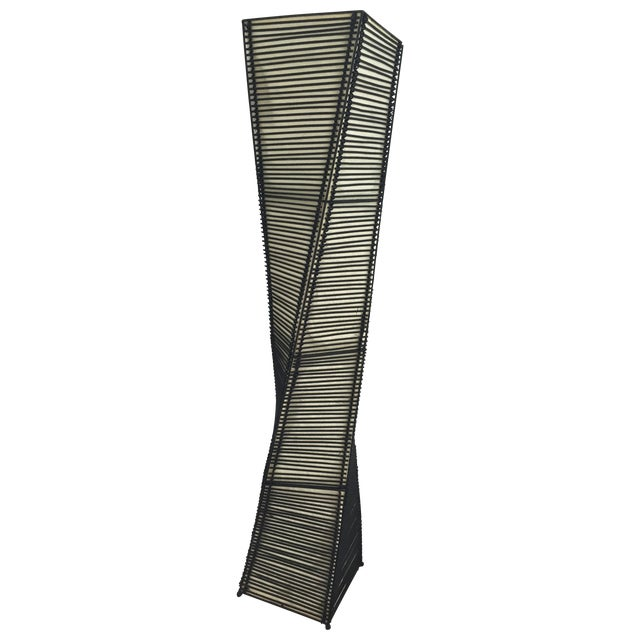 Image of Twisting Bamboo Floor Lamp