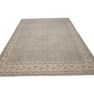 Tan Vintage Hand-Woven Overdyed Rug - 6′2″ × 9′2″