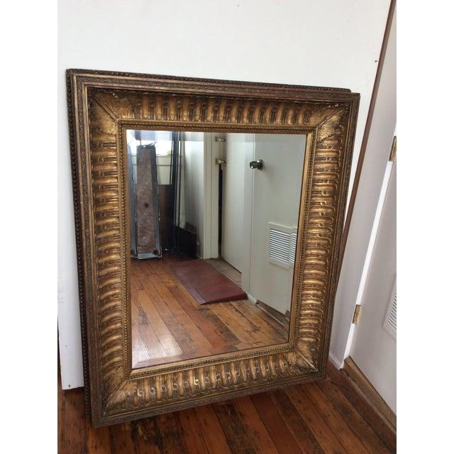 Antique Framed Carved Wood Mirror - Image 3 of 9