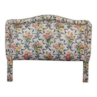 Vintage Floral Upholstered Full Size Headboard