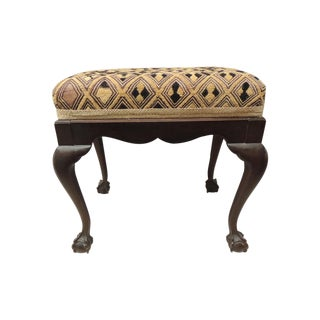 Antique African Textile Upholstered Bench