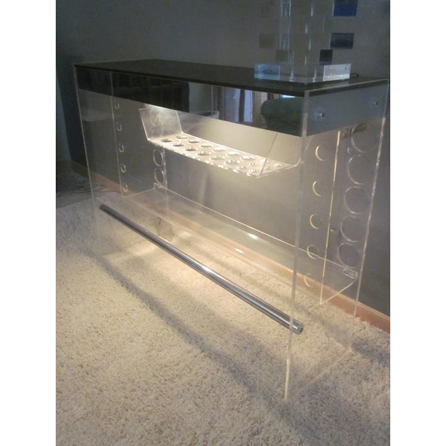 Lucite Hollywood Regency Lighted Bar Table - Image 7 of 8