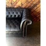 Image of Funky Old Vintage Black Chesterfield Sofa
