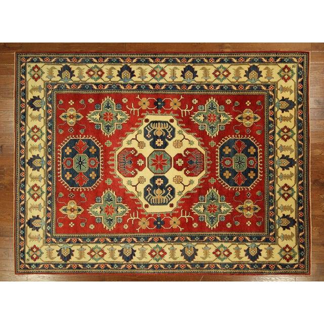 Traditional Super Kazak Rug Red- 8' x 11' - Image 2 of 11