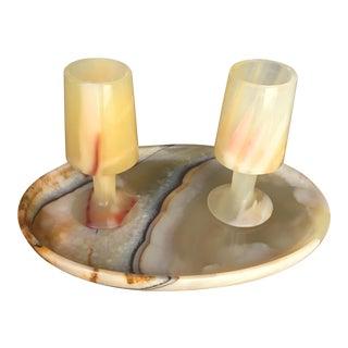 Vintage Alabaster Cordial Set