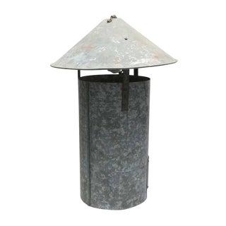 Industrial Tin Cone Pendant Fixture