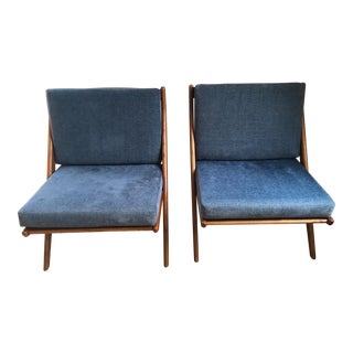 "Folke Olhsson for Dux ""Scissor"" Lounge Chairs - a Pair"