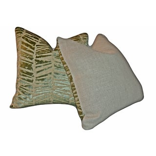 Brunschwig & Fils Crystallo Velvet Pillows - a Pair