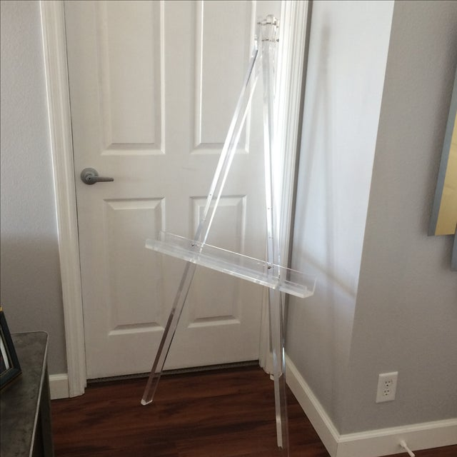 Image of 1970's Mid Century Modern Tall Lucite Art Easel