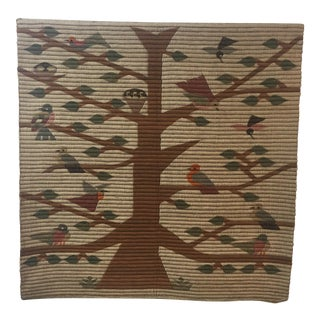 Vintage Tree of Life Wool Wall Hanging