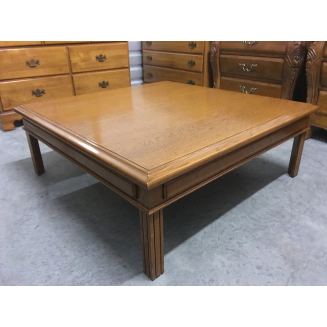 Verveine Square Coffee Table: Large Solid Oak Square Coffee Table
