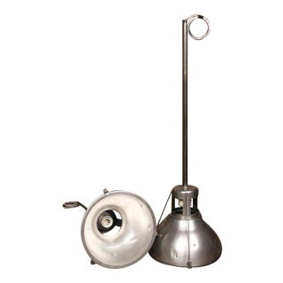 Single Vintage Industrial Holophane Metal Ceiling Lamp Light with Aluminum Shade