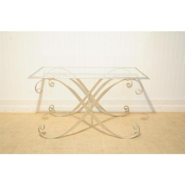 Vintage Hollywood Regency Neoclassical Silver Gilt Metal Coffee Table - Image 2 of 10