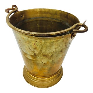 Antique Oxidized Brass Bucket