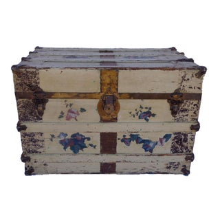 Antique Shabby Chic Packing Trunk