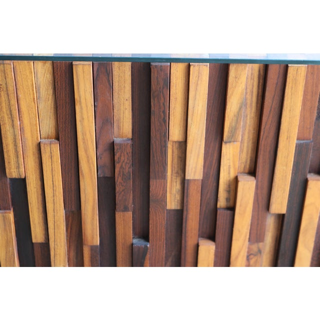 Image of Brutalist Percival Lafer Rosewood Cocktail Table