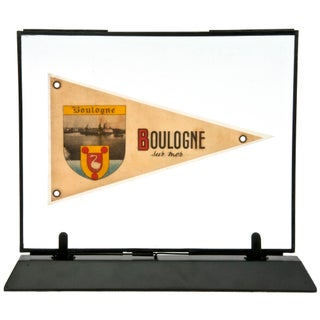 Framed Vintage French Boulogne Pennant
