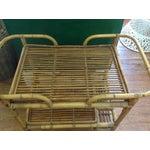 Image of Vintage Rattan Bar Cart