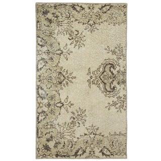 Beige Overdye Floral Carpet | 2'3 x 3'10 Rug