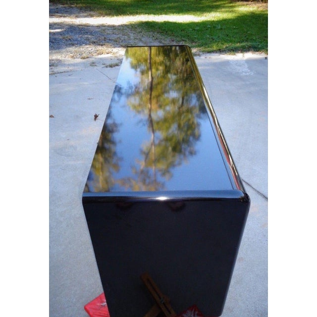 Lane Black Lacquer Hollywood 1987 Chest - Image 9 of 11