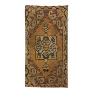 Handknotted Turkish Floor Rug - 1′6″ × 2′11″