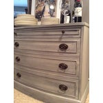 Image of Distressed Grey Bowfront Federal Style Chest