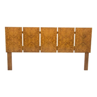Olive Burl Wood King-Sized Headboard by Milo Baughman for Lane