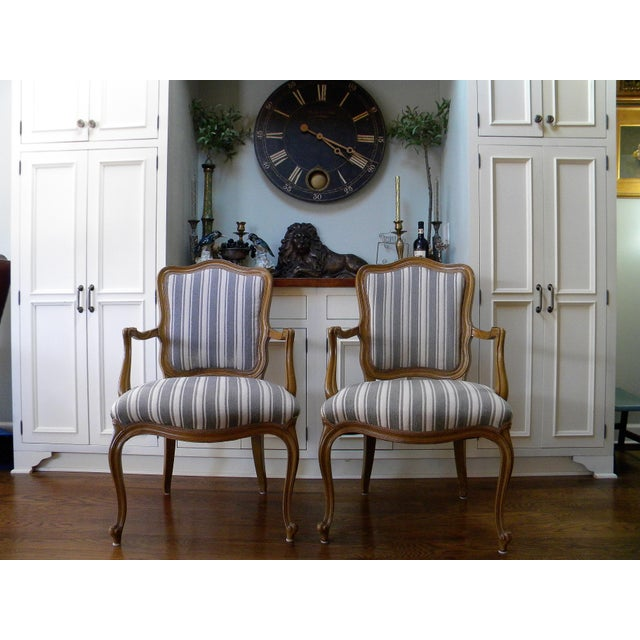 Vintage French Style Fauteuils - A Pair - Image 2 of 6