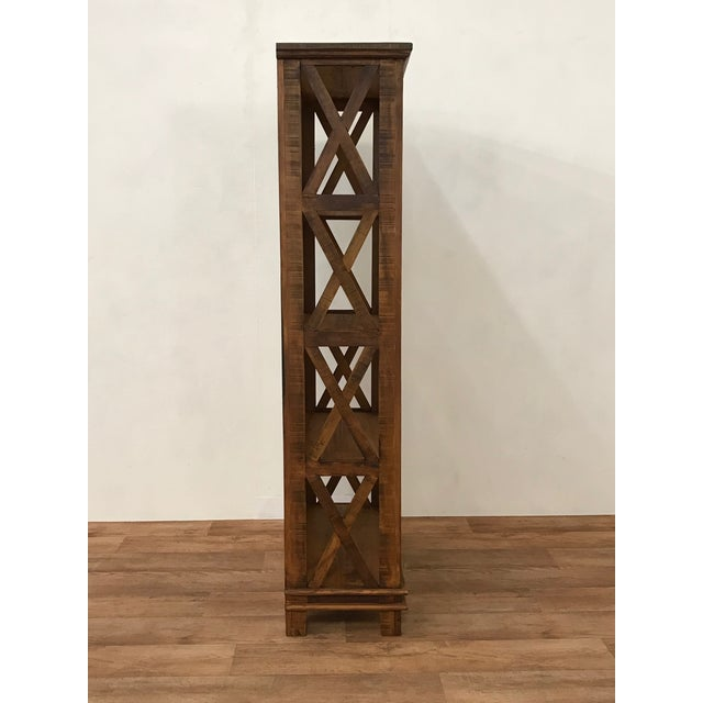 Handmade Reclaimed Solid Wood Etagere/ Bookshelf - Image 4 of 4