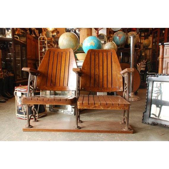 Antique Art Deco Theatre Seating - Image 3 of 3