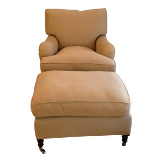 George Smith Standard Arm Chair and Ottoman