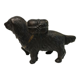 Antique Cast Iron Dog Bank
