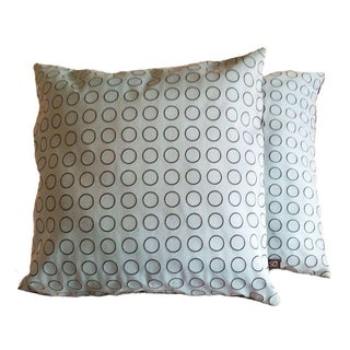 Maharam Blue Dot Ring Pillow Covers - A Pair
