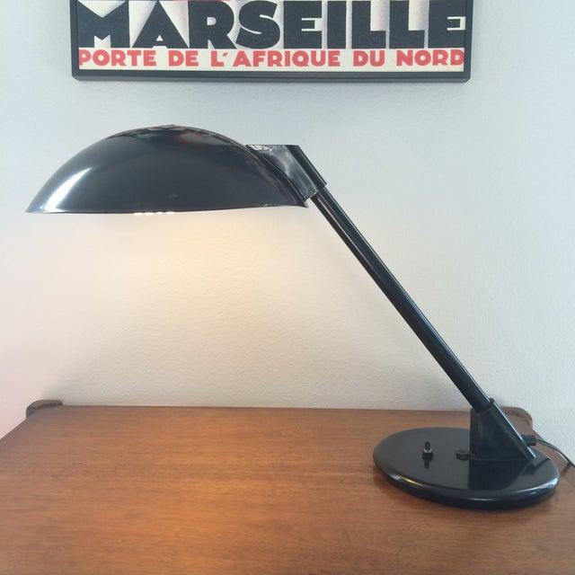 Vintage Black Metal Atomic Desk Lamp - Image 3 of 11