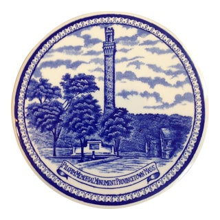 Blue & White Pilgrim Memorial Trivet