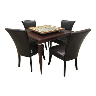 Game Table & Chairs with Scrabble Board