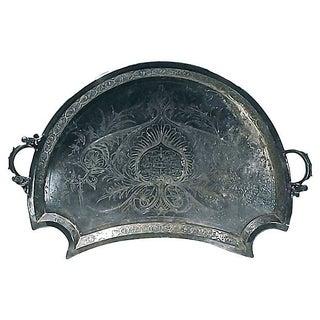 19th Century Antique Cherub Bronze Tray
