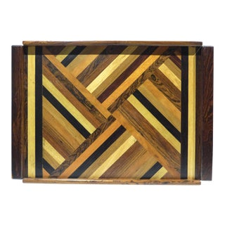 Large Don Shoemaker Marquetry Tray