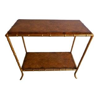 Burlwood & Faux Bamboo Table