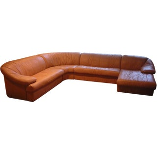 Sarlotti Natuzzi Leather Sectional Sofa