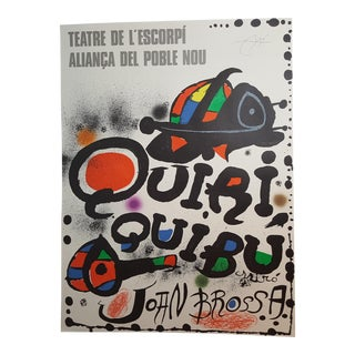 Quiri Quibu, Signed Joan Miro Lithograph