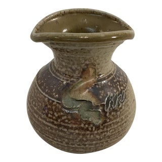 Vintage Hand Thrown Ceramic Vase